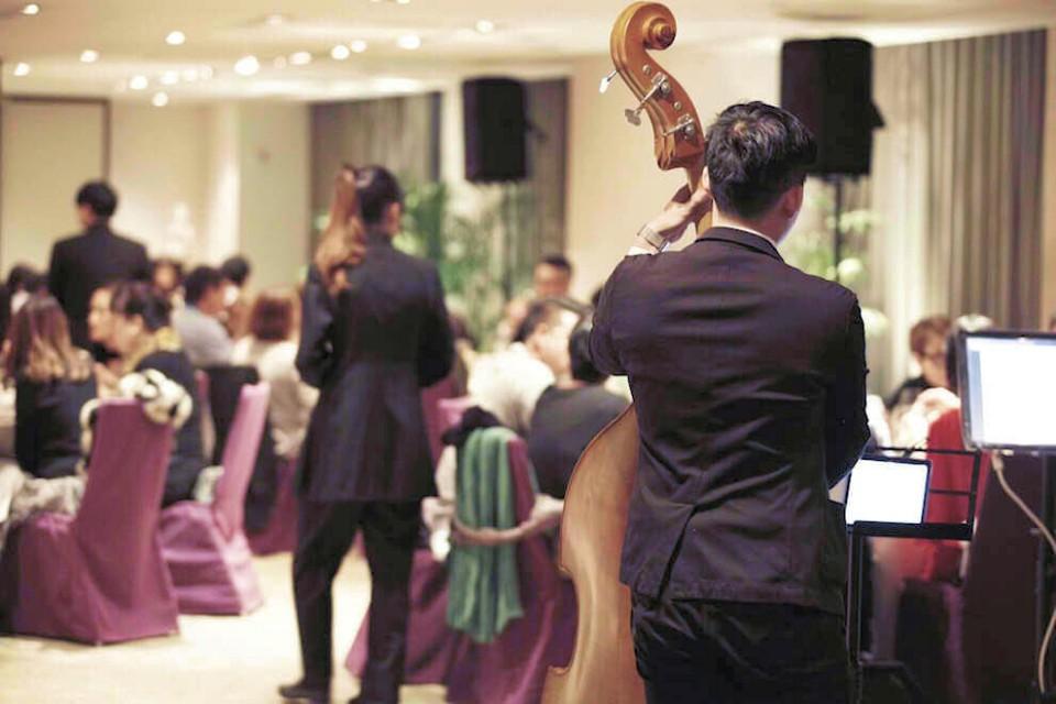 Wedding reception musicians